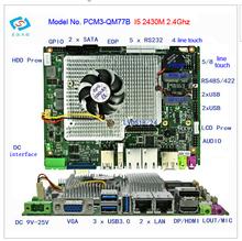 100% испытанное материнская плата mini itx с I5 2410 М ПРОЦЕССОРА (PCM3-QM77B)
