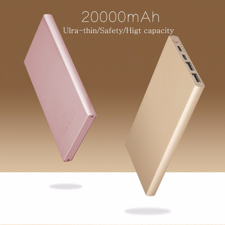 Original luxury 20000mAh power bank for xiaomi new Double input/output Portable Charger Backup power for iphone Samsung(China (Mainland))