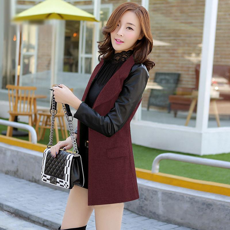 Nostalgia concentrated 2015 Winter Women's new Korean commuter Slim was thin coat woolen coat it coat female SHG15101303