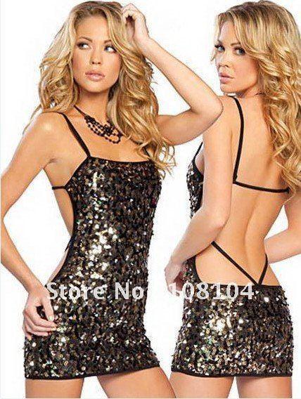 Free shipping, shiny dance performance apparel, backless dress(zlmds055)