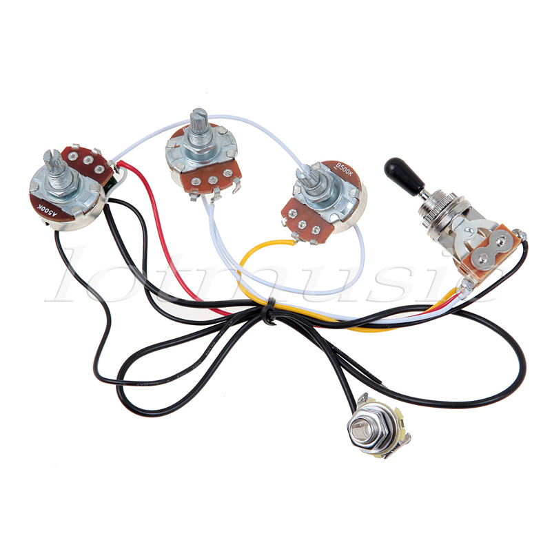 HTB1ttycJFXXXXc7XXXXq6xXFXXXG one set of electric guitar wiring harness 3 way 2v1t 500k open