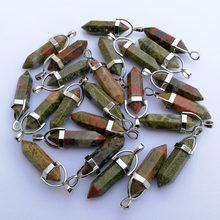 Pierre naturelle cristal pilier pendentifs et colliers pour la fabrication de bijoux mode mixte charme Point à la mode 24 pièces/lot livraison gratuite(China)