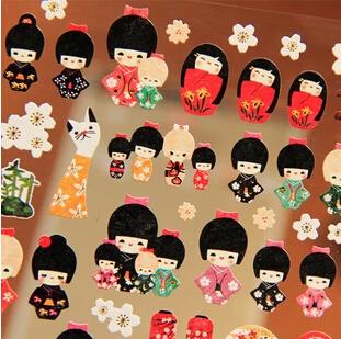 Гаджет  Minimum order $10 (Mix order)Free shipping New cute jap. girl style paper sticker / Decoration label sticker  None Офисные и Школьные принадлежности
