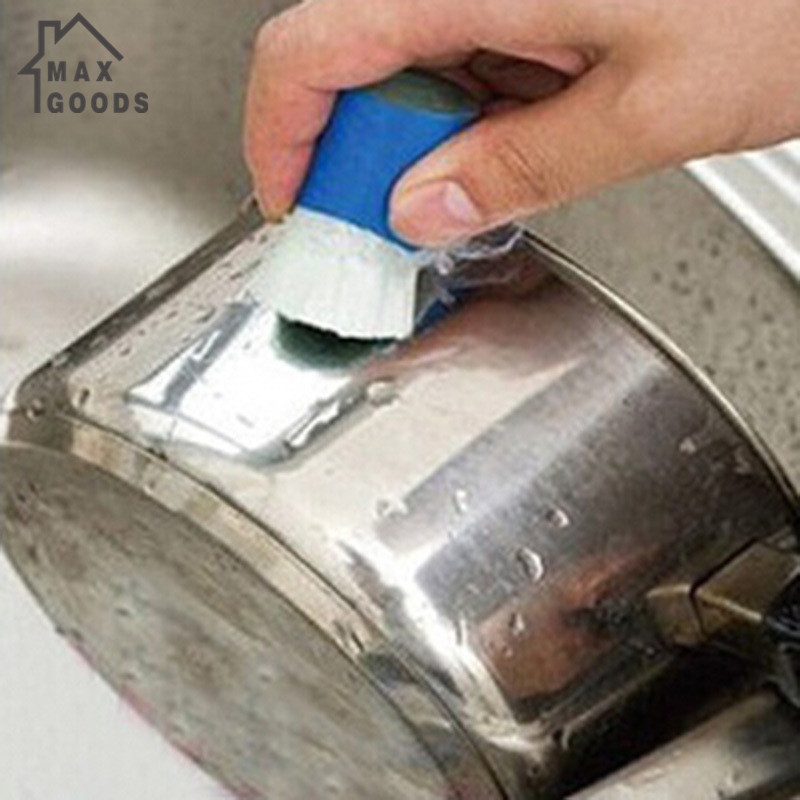 maxgoods New Magic Stainless Steel Metal Rust Remover Cleaning Detergent Stick Wash Brush (Random Color)(China (Mainland))