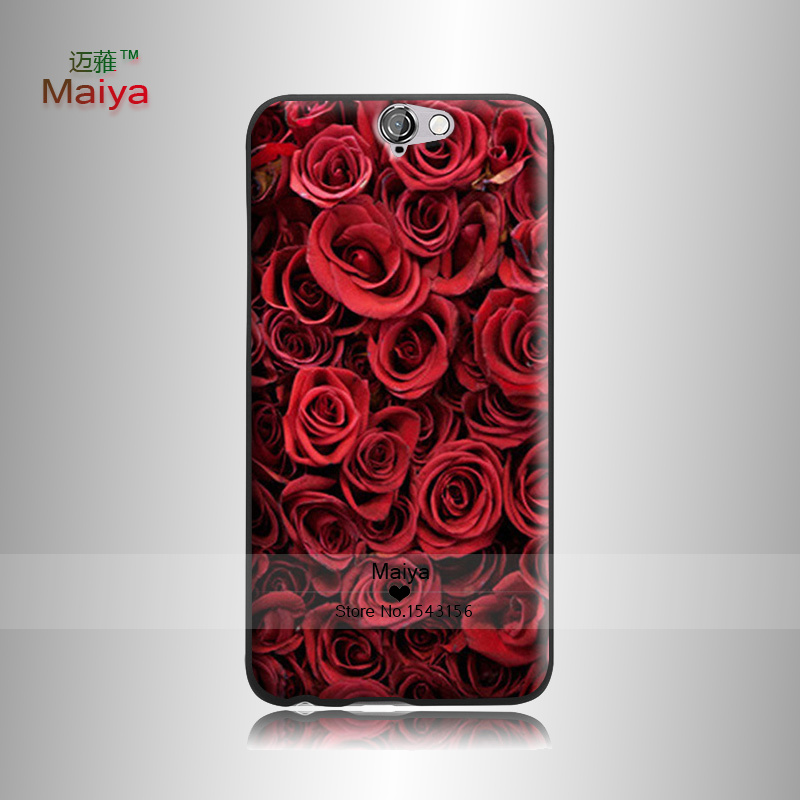 Flower Market 3 Transparent Hard Hard Plastic Original case For Htc One A9 Cover With(China (Mainland))