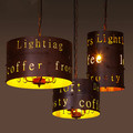 Personality DIY Letter Cafe Bar Chandelier LOFT American Country Industry Vintage Iron Chandelier Free Shipping