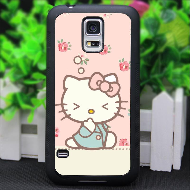 Hello Kitty fashion original phone cell case for Samsung Galaxy S3 S4 S5 Note 2 Note 3 s6 Note 4 s6 Note 4 #*#G393BR(China (Mainland))