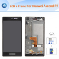 Original For Huawei P7 LCD with frame assembly LCD display touch screen digitizer glass full replacement