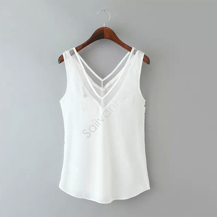 High quality 2015 women polyester tank tops lady v neck for Womens white shirts high quality