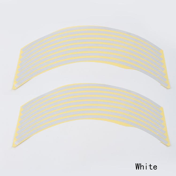 Hot sale Polyethylene Terephthalate Wheel Sticker Reflective Rim Stripe Tape Bike Motorcycle Car Drop shipping