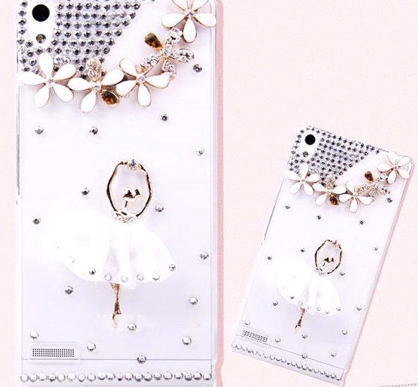 3D Diamond Bling Cover sony L39h Xperia Z1 C6902 C6903 C6906 Phone transparency Case Ballet Girls Mobile - ZhaoChen Technology store