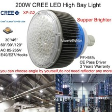 200w cree led manufacturing machine led high bay light 200w cree led industrial lighting workshop lamp warehouse lighting(China (Mainland))