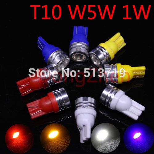 1X High Power T10 W5W 184 2450 12v auto LED Door Light clearance Bulb 1W car led lamp corner parking light xenon white - BIng LIn's store