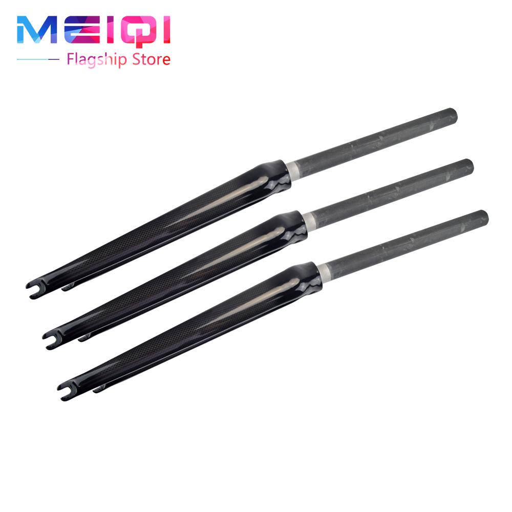 no logo carbon fiber road ultra light bicycle carbon fiber front fork v brake disc brake 3k Gloosy 700c 1-1/8 28.6mm  front fork