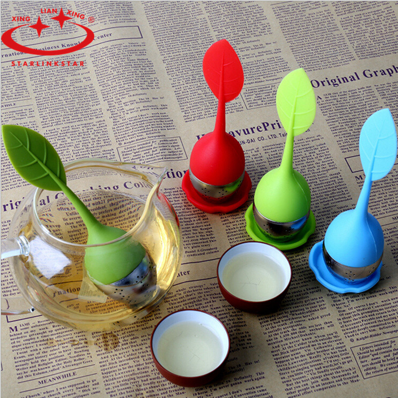 2pcs/lot cooking tools Food-grade silicone te infuser make tea strainer bag filter stainless steel insulation tea infuser(China (Mainland))