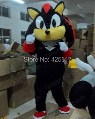 Factory direct!New fashion Shadow Hedgehog Black Sonic Cartoon Fancy Dress Suit Outfit Animal Mascot Costume - Sam's World store