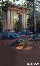 Outdoor Forest Photo Studio Backgrounds 5x7ft Vinyl Digital Printed Vintage Building Sunshine Props Photograph Muslin Backdrops
