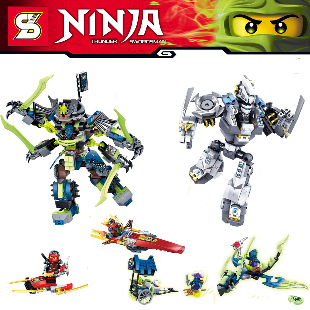 2015 New Arrival 2Pcs Super Heroes Ninja Cyberstein Robots Ltd Minifigures Building Blocks Set Model Bricks Toy Compatible Legao<br><br>Aliexpress