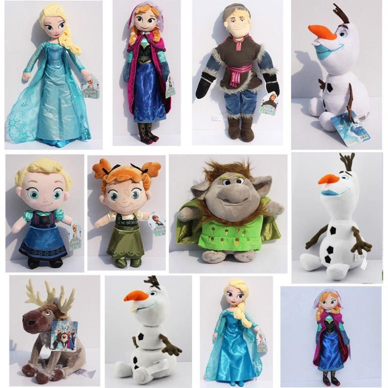 Гаджет  Plush Toys olaf plush Princess Elsa plush Anna Sven Kristoff Trolls Plush Doll Brinquedos Toy Mix Style You can choose None Игрушки и Хобби