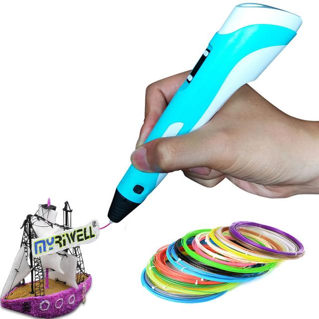 Горячая 3d Перо принтер с Экрана 3D Перо для Рисования для 3D живопись на День Рождения и Рождественский Подарок 3D ручка RP-100B с PLA накаливания