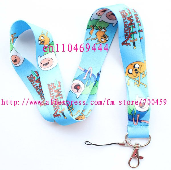 1pc ADVENTURE TIME Mobile Phone LANYARD Neck Strap Charms(China (Mainland))