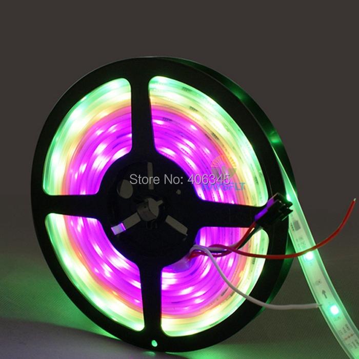 2811 5m 50 ICs 150LED 5050 digital RGB led tape for KTV Disco IP67 tube waterproof 50M dream magic color 12V WS2811 IC Led Strip(China (Mainland))
