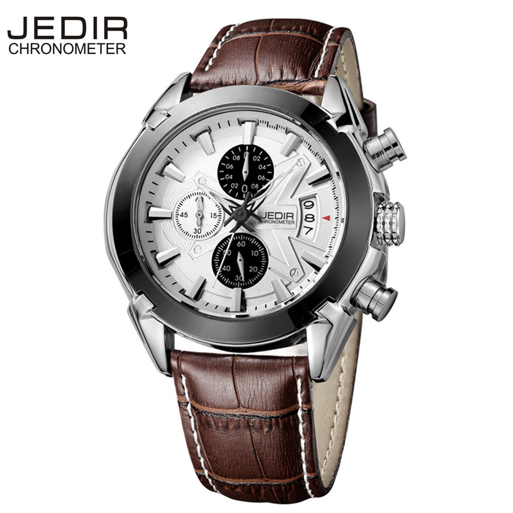 Relogio Masculino JEDIR Mens Watches Top Brand Luxury Men Sport Chronograph 6 Hands Date Function Casual Quartz Watch Diver Hour - Wemwatch Store store