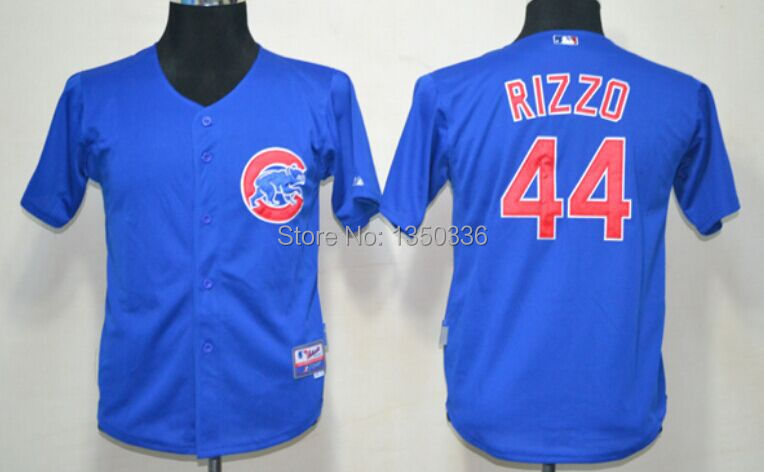 #44 Anthony Rizzo Chicago Cubs Youth Baseball Jerseys Kids,Best Quality Accept Mix Order Jersey,Authentic Jersey - Best Sport store