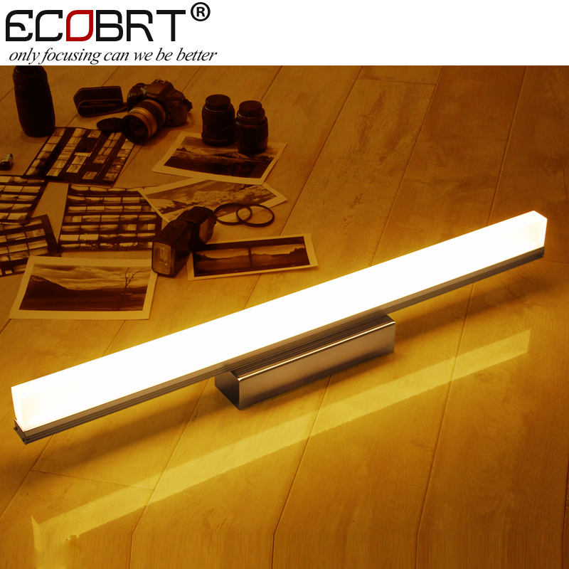 [ECOBRT] Modern LED Wall Lights Aluminum Up Down Surface Mounted Beside Sconces Indoor Bathroom Mirror Lamps Lighting(China (Mainland))