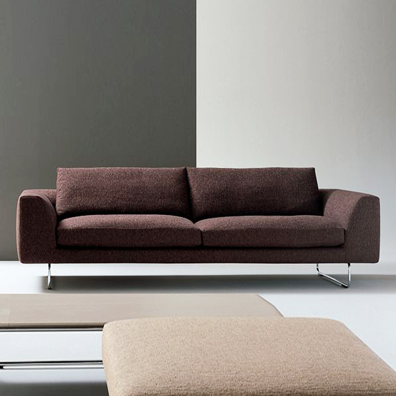 Milan fashion home living room big house down sofa for Minimalist sofa