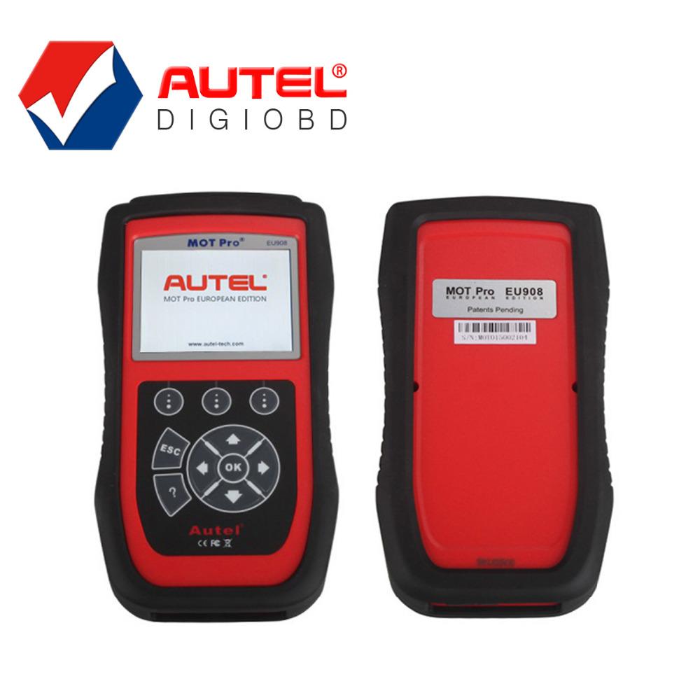 100% Autel MOT Pro EU908 Scanner with Multi-Functions MOT Pro Diagnostic Scanner EU908 Work on Domestic, Asian & European Cars(China (Mainland))
