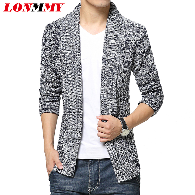 LONMMY Cardigan sweater men sueter mens sweaters mens ...