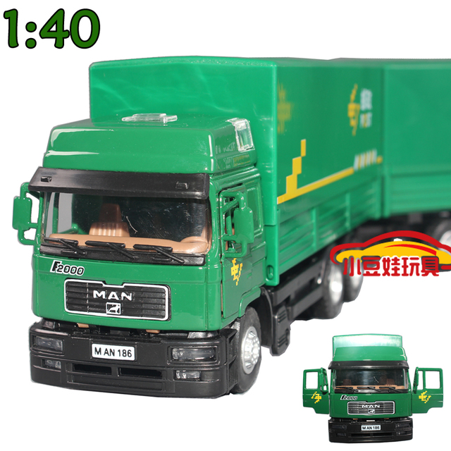 free shipping Alloy large stacking container car engineering car mail car alloy car model toy