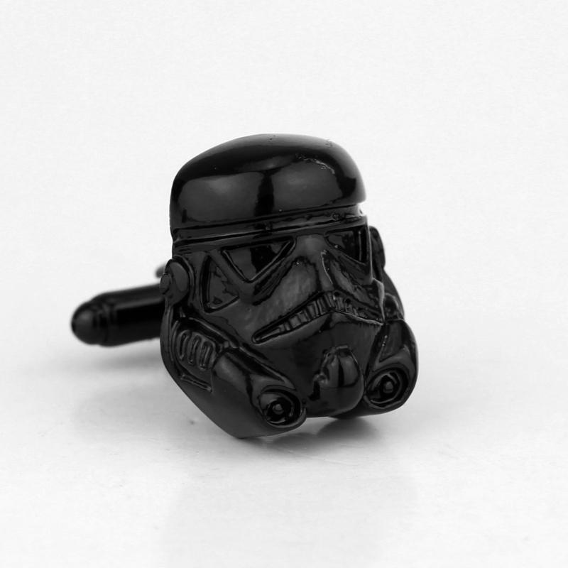 Hombres Corbata Luchador Anillo Acero Inoxidable Darth Vader Nave Espacial Negro