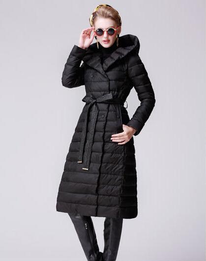 Женская одежда зимнее новый женский длинный пуховик пальто женщин толстые теплые колено расширения пальто плюс Размер зимние куртки DM1158