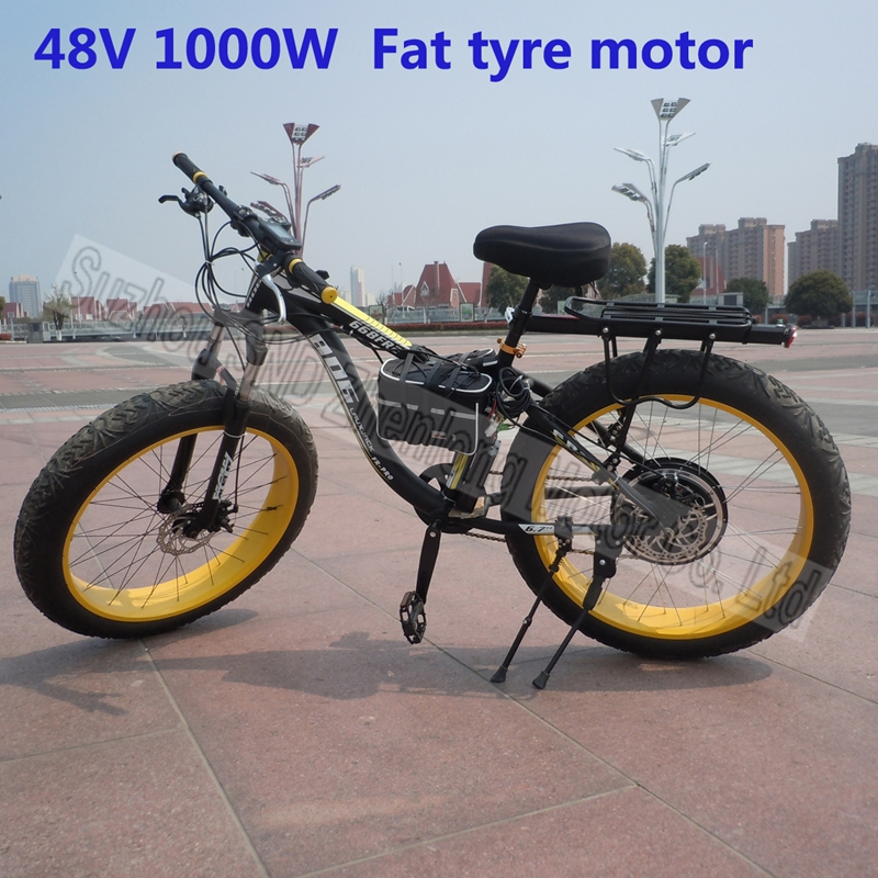 Fat tyre snow bike 26 4 inch rear spoke hub motor 48v for Fat bike front hub motor