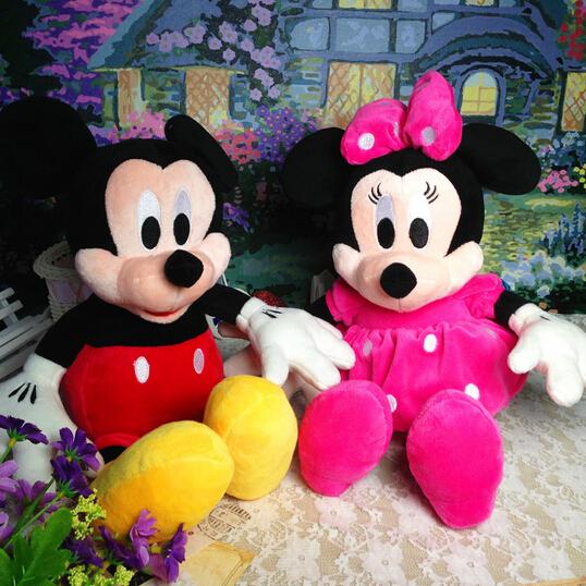 2 шт./лот 28 см минни и микки маус супер классический плюшевые куклы чучела животных плюшевые игрушки для детей подарок