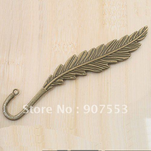 2pcs bronze tone two sides leaf design charm bookmark G776(China (Mainland))
