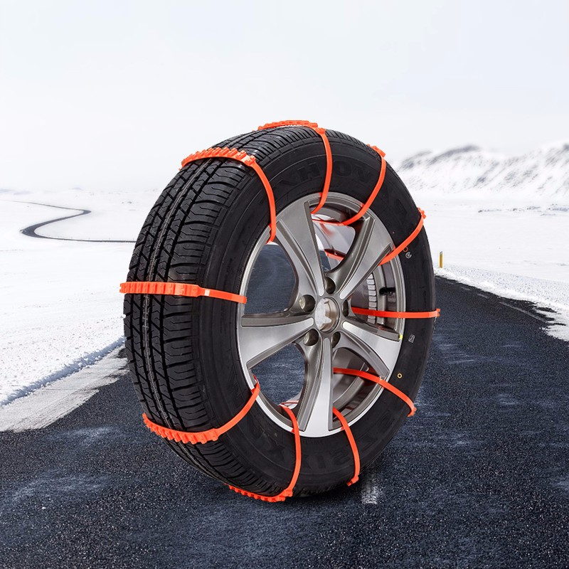 10pcs Reusable Auto Car Universal Fit Snow Safety Anti-skid Tire Tyer Chains Thickened Tendons