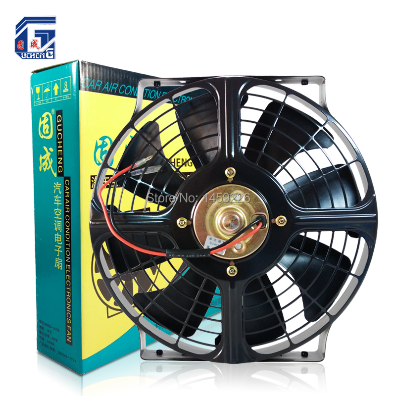 Universal 10'' Automotive Air Conditioning Electric Radiator Cooling Fan 12V / 24V for Condenser Car Truck Bus Tuning Parts(China (Mainland))