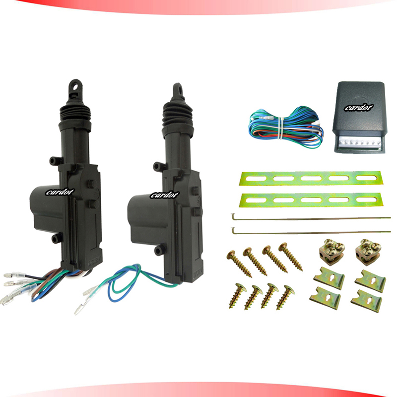 central door lock system black motor header,one master one slave working with car alarm,free shipping CE passed!CD-CL25B(China (Mainland))