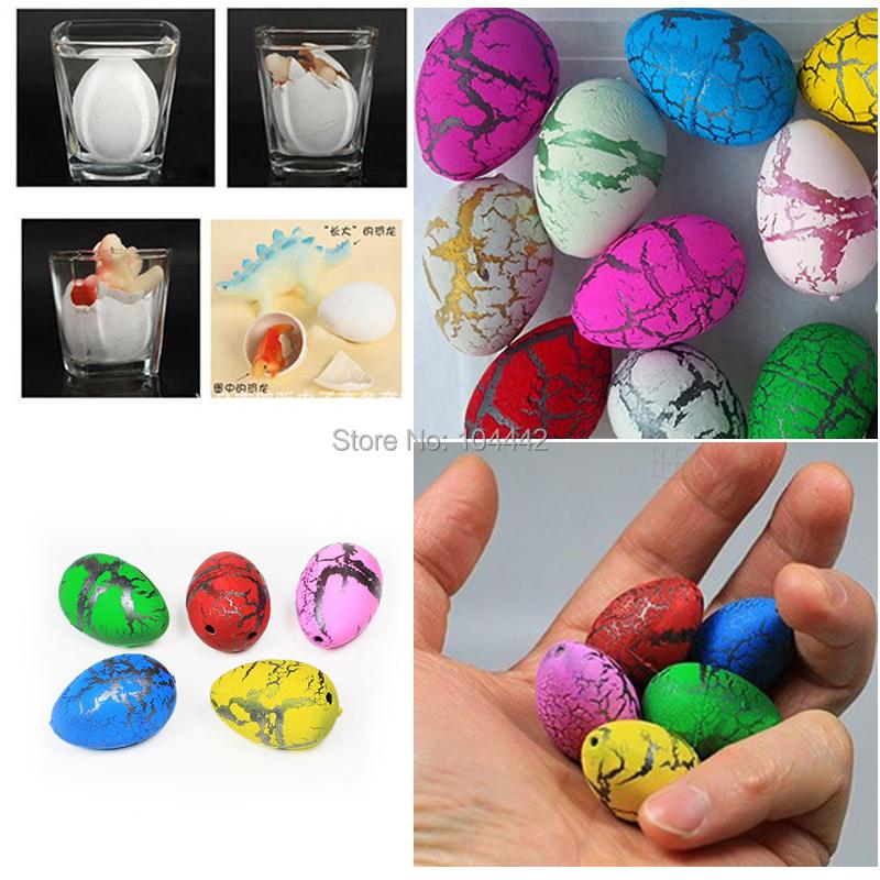 10pcs/set Novel Water Hatching Inflation Dinosaur Egg Watercolor Cracks Grow Egg Educational Toys Interesting Gift(China (Mainland))