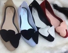new 2013 fashion women summer shoes melissa jelly shoes pointed toe ladies sandals designer brand flat heel single shoes woman(China (Mainland))