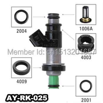 40pieces/set auto part fuel injector repair kit ,fuel filter,seals viton o-ring for keihin inejctor(AY-RK-025)