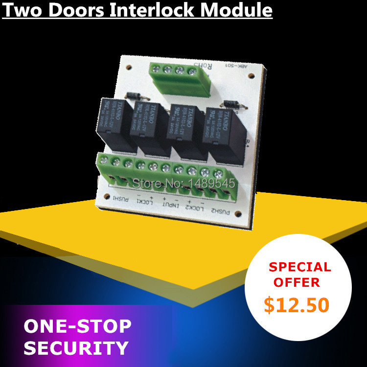 Interlocking Module of Two Doors in Access Control System(China (Mainland))