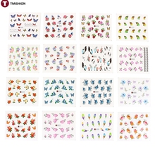 50 Sheets/Set 5*6.5cm Mixed Flower Water Transfer Nail Stickers Decals Art Tips Decoration Manicure Stickers Ongles(China (Mainland))