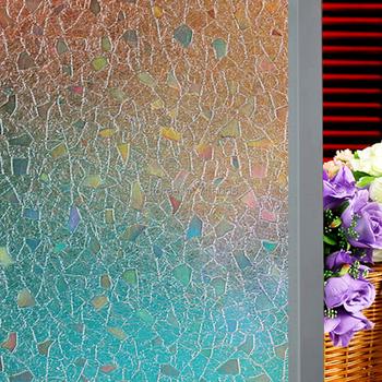 45cm width 90cm length each pc polygon pattern sunshade, anti-uv decorative static cling window film