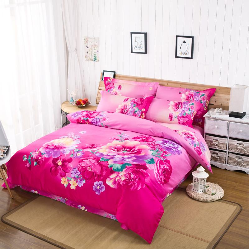Hot pink duvet cover promotion shop for promotional hot for Hot pink bedroom set