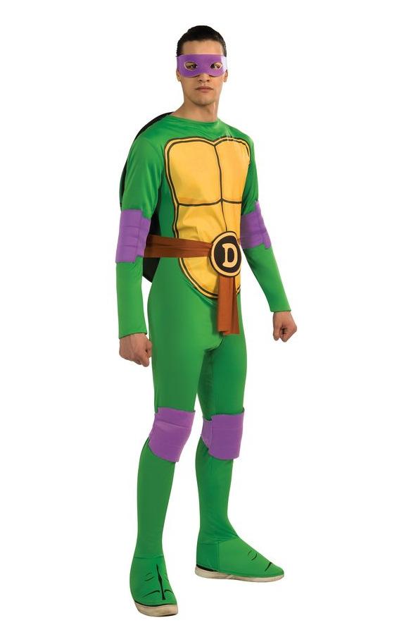 Mens adultos de Disfraces y Accesorios de Tortugas Ninja Donatello Traje Emblema M Mono Ninja Anime