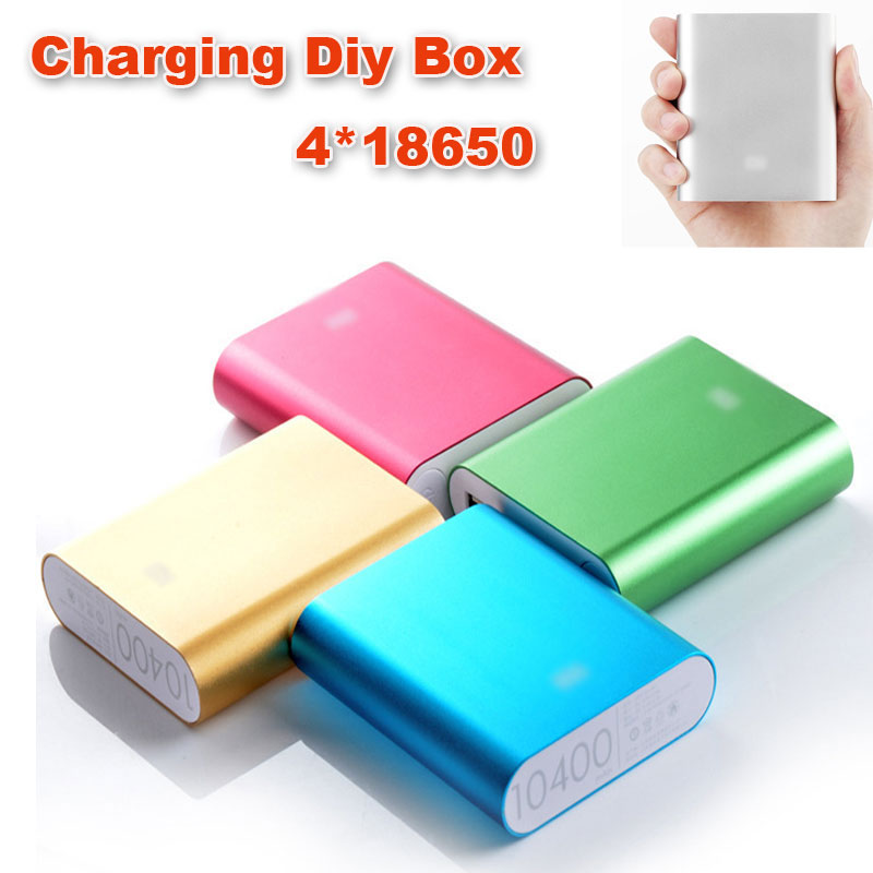 Universal Diy power bank 4X18650 LED 5V 1.0A Power Bank Case Kit DIY Cell Box Portable External Battery Charger for Mobile Phone(China (Mainland))